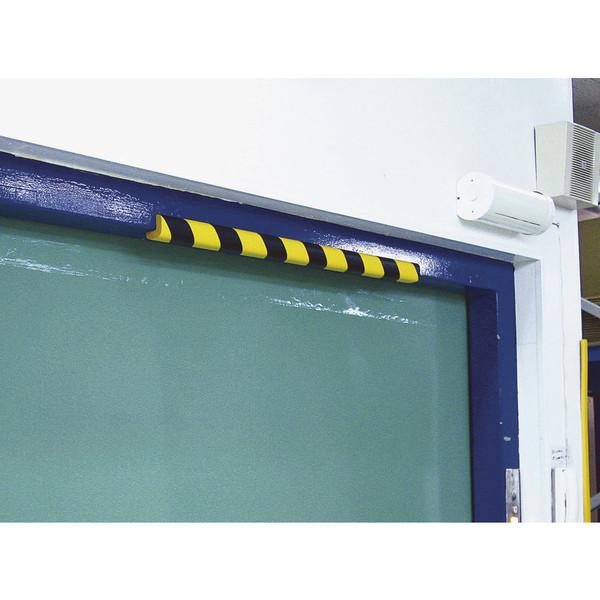 安心クッションL字型90cm小トラ柄(黒/黄)2P AC-1002S 1パック(2本入) カーボーイ