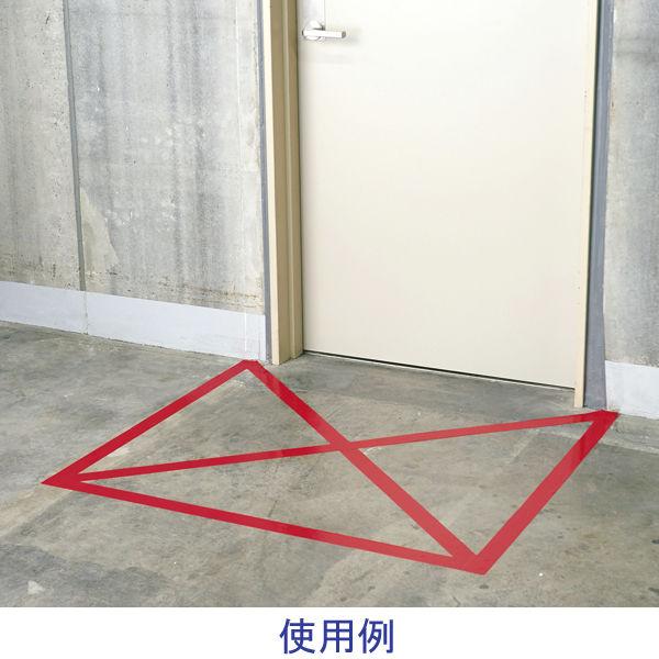 寺岡製作所 「現場のチカラ」 ラインテープ(赤) 0001 1巻