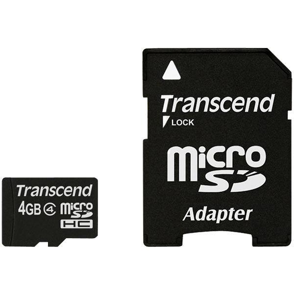 トランセンドmicroSDカード 4GB