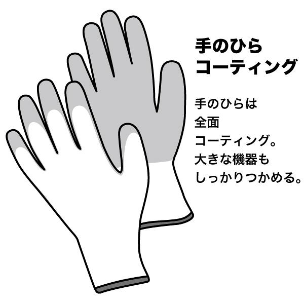 アスクル 「現場のチカラ」 ウレタン背抜き手袋15ゲージ L 1袋(10双入)