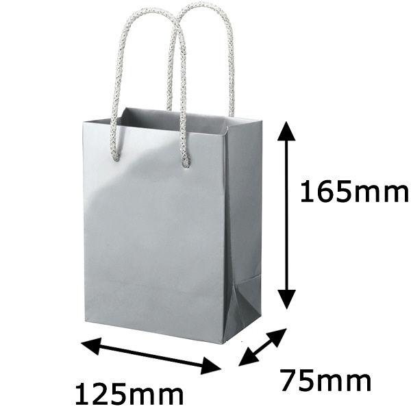 丸紐 手提げ紙袋 シルバー M 5枚