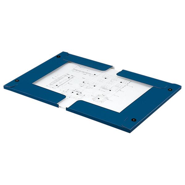 キングジム 図面ファイルGS A2サイズ用・2つ折 厚型 青 1182