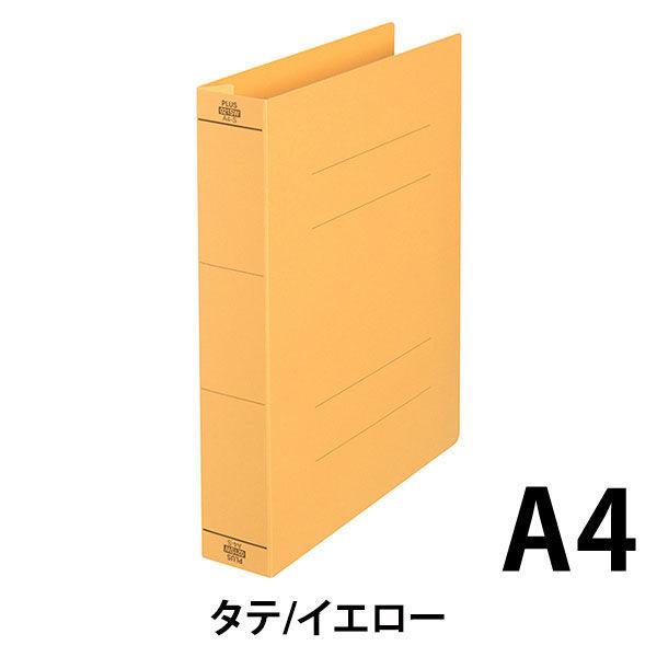 プラス フラットファイル厚とじ500 A4タテ イエロー 87987 1セット(50冊:10冊入×5袋)
