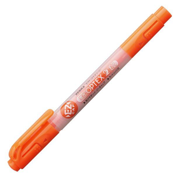 ゼブラ 蛍光オプテックス2EZ オレンジ WKT11-OR 1箱(10本入)