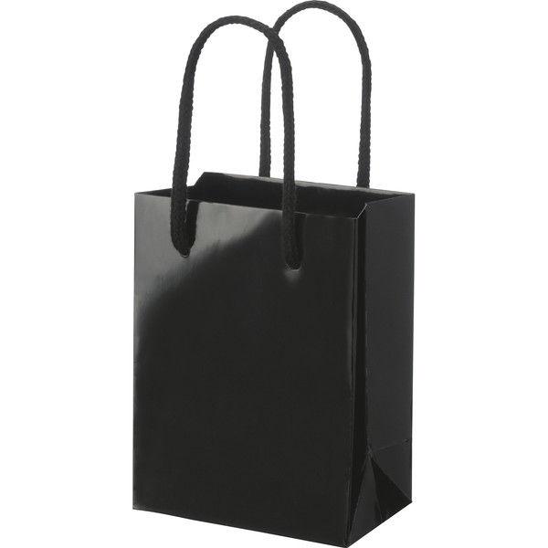 丸紐 手提げ紙袋 ブラック M 50枚