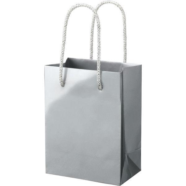 丸紐 手提げ紙袋 シルバー L 50枚