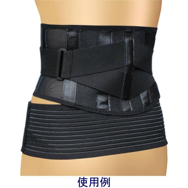 ミノウラ 山田式ブラック腰らくらくコルセット骨盤ベルト付L 1個 (取寄品)