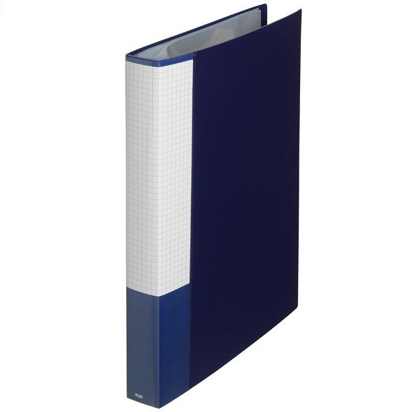 クリアファイル A4縦 紺 60ポケット