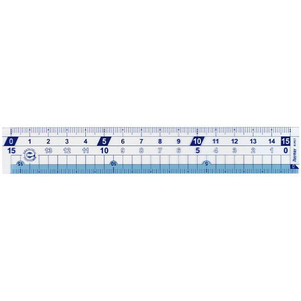 はし0(ゼロ)メモリ 直定規(15cm)
