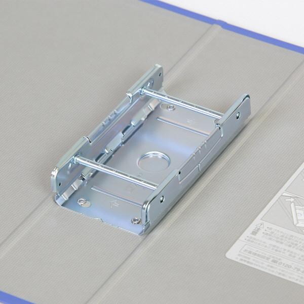 キングファイル スーパードッチ A4タテ とじ厚60mm 10冊 グレー キングジム 両開きパイプファイル 1476クレ