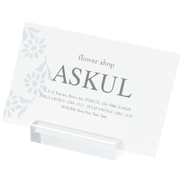 「現場のチカラ」 アクリル製カード立て 長方形L 1セット(12個:4個入×3袋) アスクル