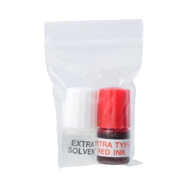 角型印速乾タイプ専用補充インキセット3ml+3ml 赤 53070