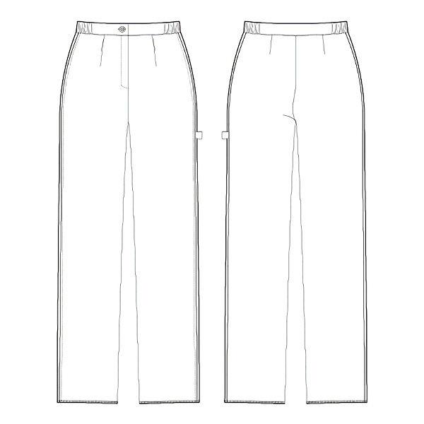 ルコックスポルティフ ナースパンツ ゆったりブーツカットパンツ UQW2013 ネイビー S