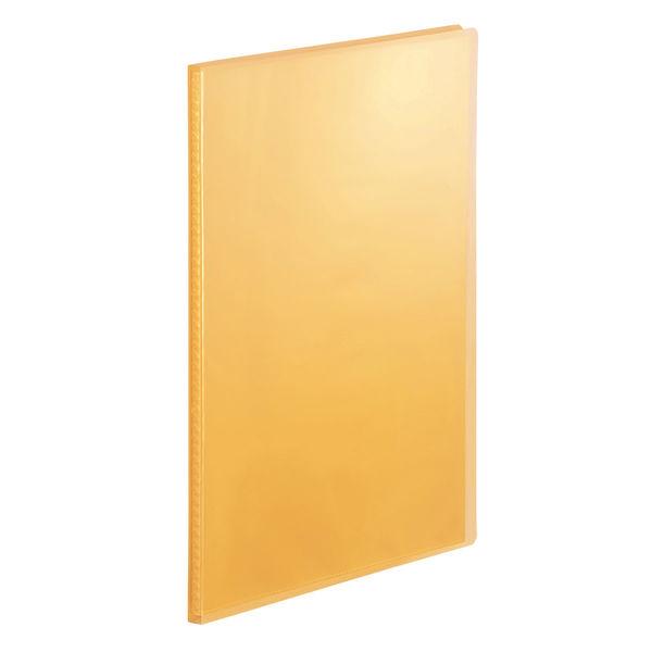 クリアファイル透明 A4縦20Pオレンジ