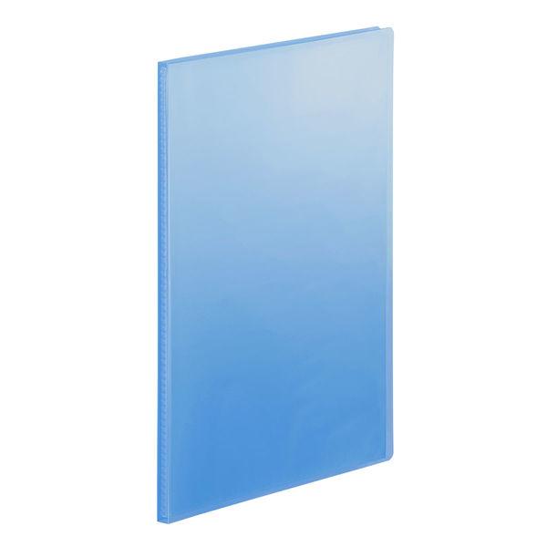クリアファイル透明 A4縦20P ブルー