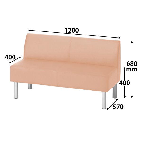ロビーベンチ 幅1200mm(背付)