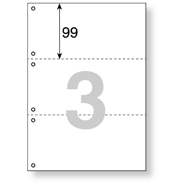 プラス マルチプリンタ用紙 3面6穴 TY-236MS 1冊(500枚入)