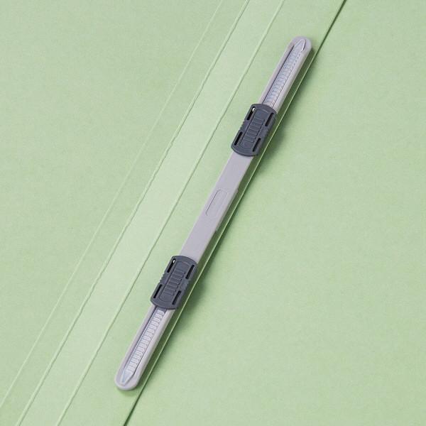 フラットファイル 上質表紙 A4タテ 3冊 グリーン アスクル