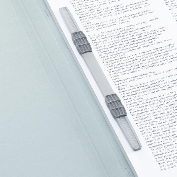 アスクル 上質表紙のフラットファイル ハイスタンダード A4タテ ブルー 1袋(3冊入)