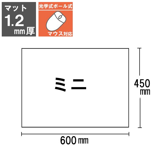 プラス ななめカットデスクマット OAエコノミー クリアタイプ ミニ(600×450mm) 厚さ1.2mm 下敷きなし