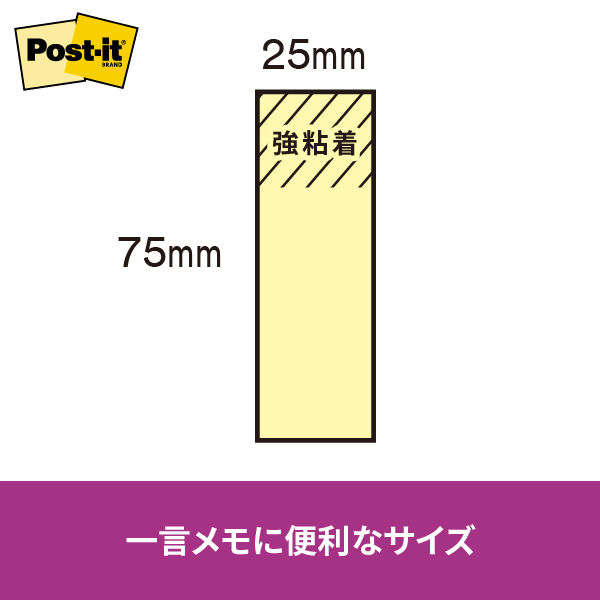 ポスト・イット 強粘着ふせん 業務用パック 5004SS-NE ネオンカラー5色 90枚×80冊 75×25mm