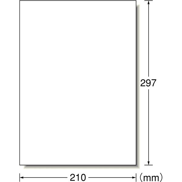 エーワン ラベルシール(プリンタ兼用) 1面 はがしやすい加工付 72201 1袋(22シート入)×5袋