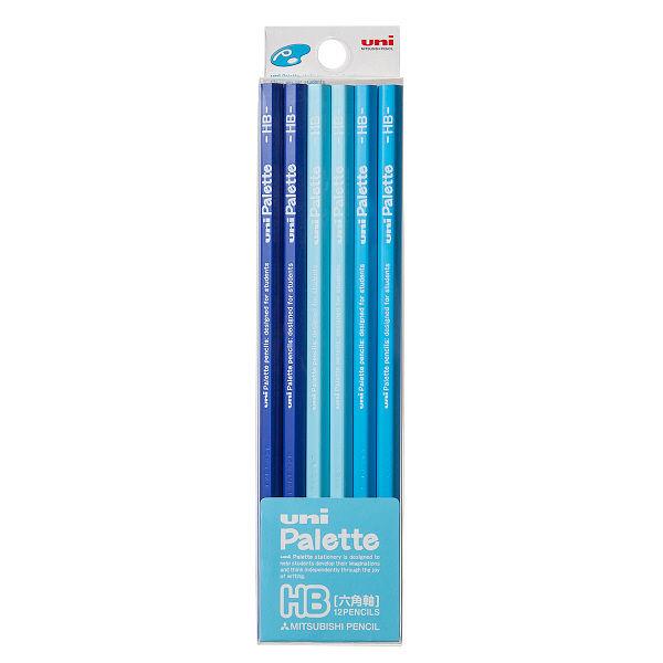 鉛筆 HB ユニパレット 1ダース 青