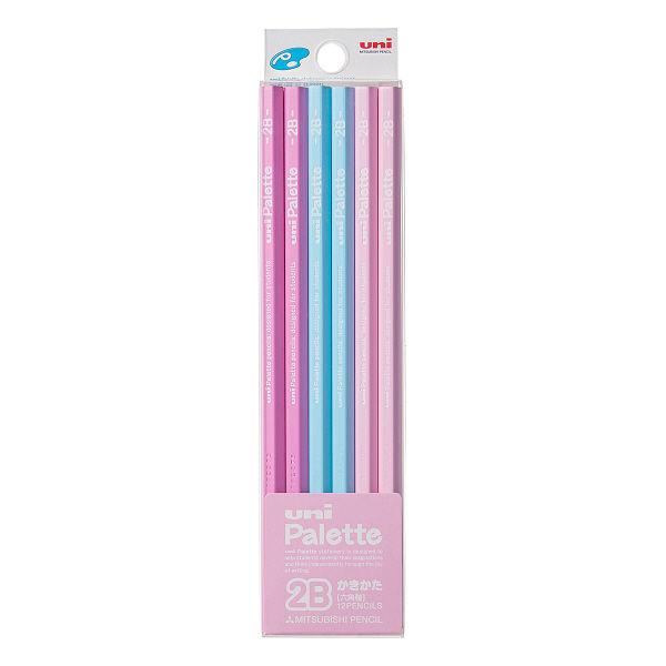 鉛筆 2B ユニパレット1ダース ピンク