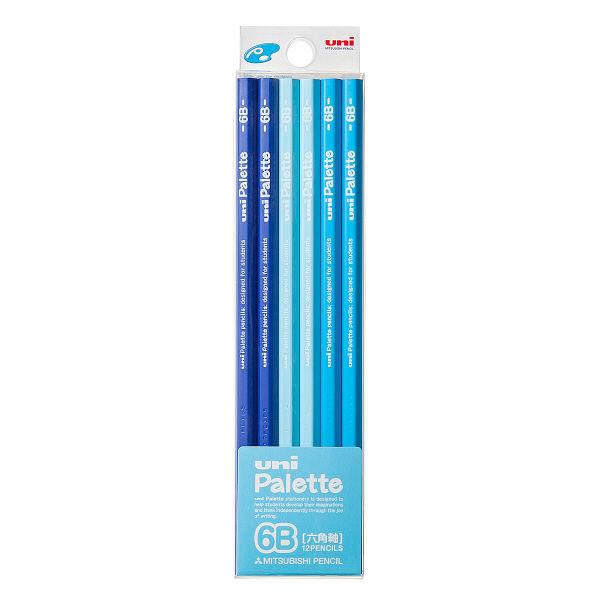 鉛筆 6B ユニパレット 1ダース 青