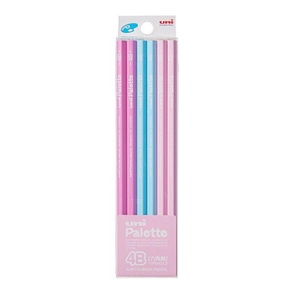 鉛筆4B ユニパレット 1ダース ピンク