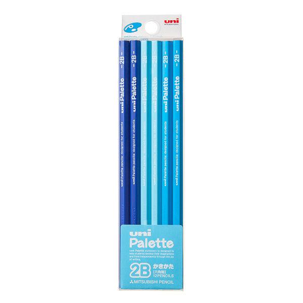 鉛筆 2B ユニパレット 1ダース 青