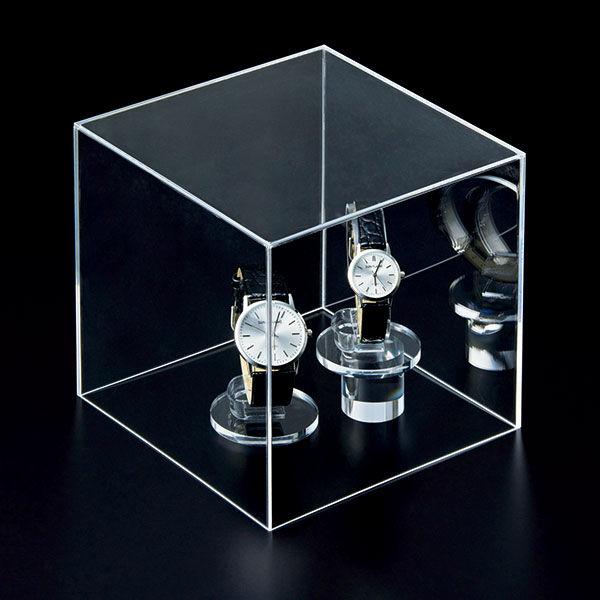 アクリル製 キューブ型ディスプレイ 15cm角 1セット(5個:1個×5) アスクル
