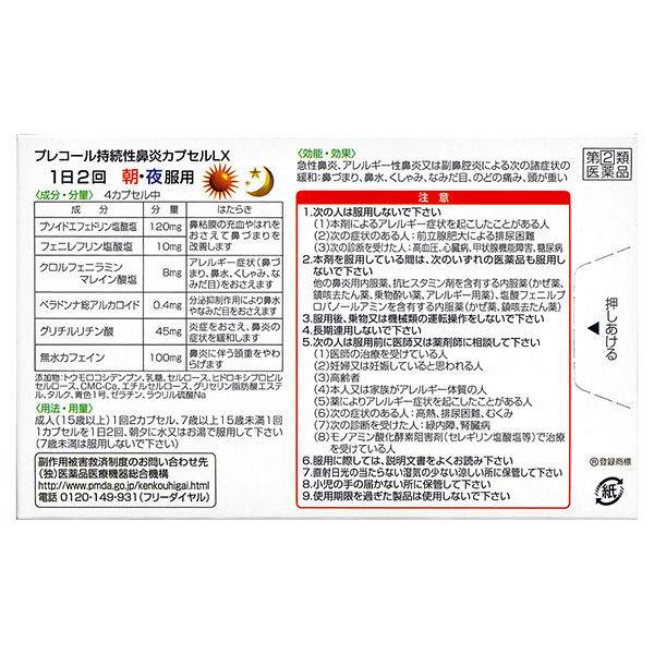 プレコール持続性鼻炎カプセルLX 40C