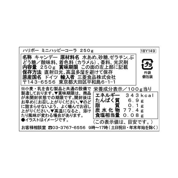 ハリボーミニハッピーコーラ250g 1袋