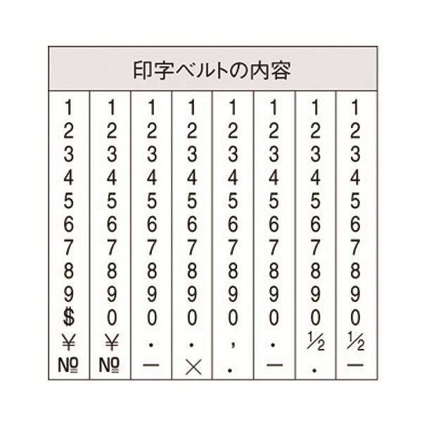 シャチハタ 回転ゴム印 エルゴグリップ 欧文8連 4号 ゴシック CF-84G 1個(直送品)