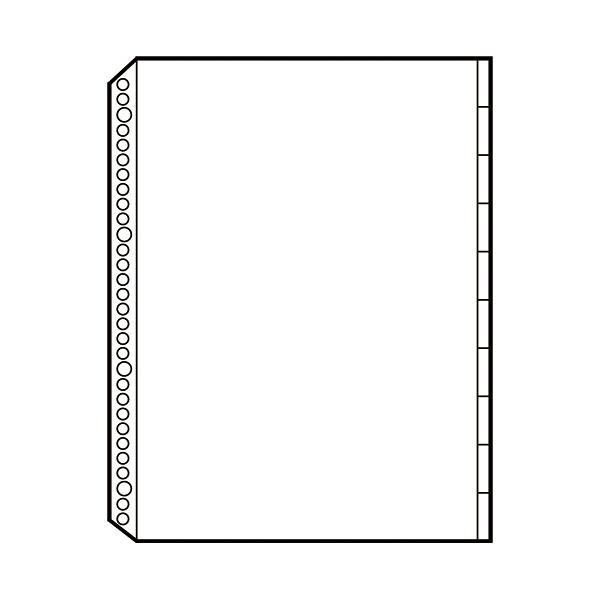プラス リフィール 1ポケット 見出付 RE-141PI 1パック(10枚入) (取寄品)
