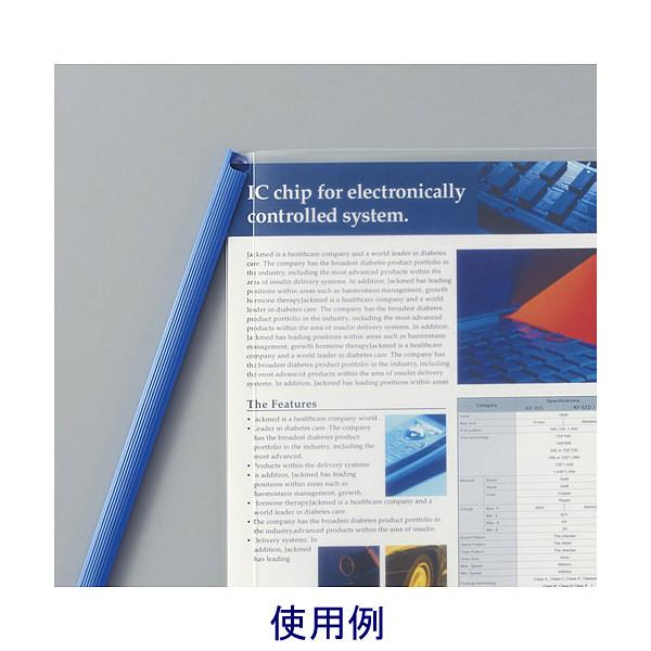 キングジム レールファイルハッサム 赤 502-10アカ 1パック(10冊入) (直送品)