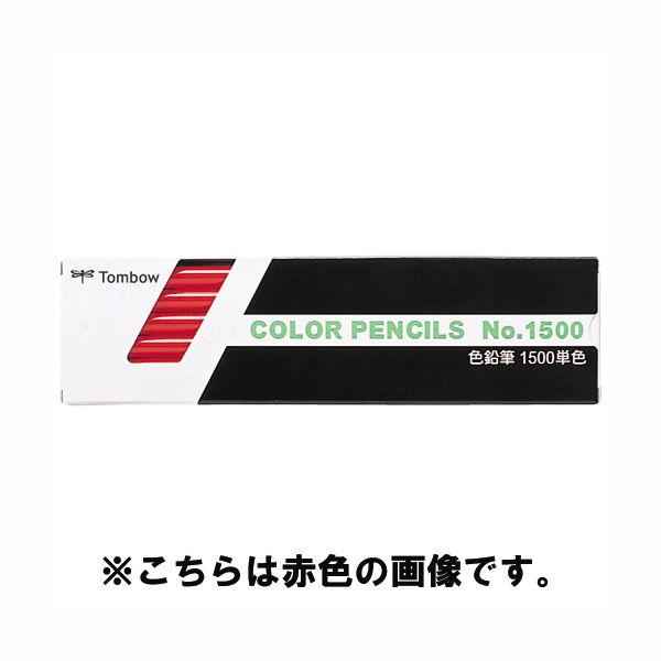 トンボ鉛筆 色鉛筆 単色 白 1500-01 1箱(12本入) (取寄品)