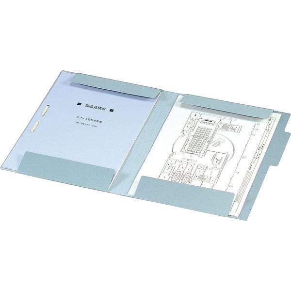 コクヨ 図面個別フォルダー A4 青 セ-FF9B 1箱(50枚:10枚入×5袋)