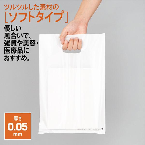 手提げポリ袋 ホワイト M 500枚