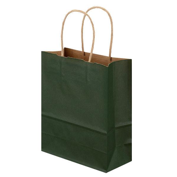 丸紐 手提げ紙袋 深緑 SS 300枚