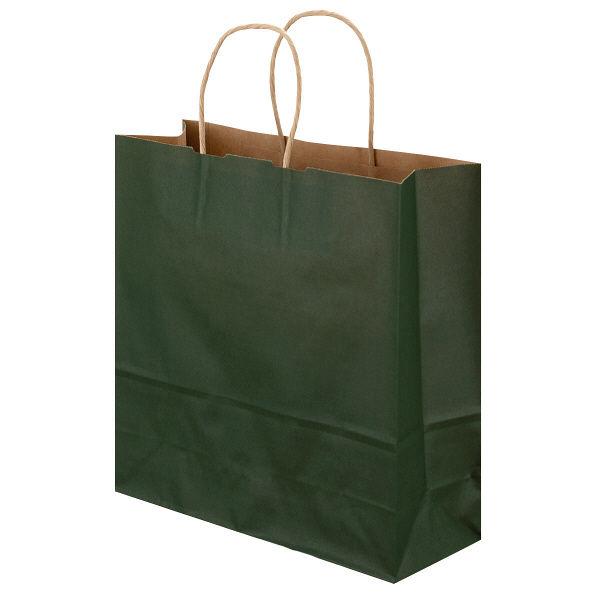 丸紐 手提げ紙袋 深緑 M 300枚