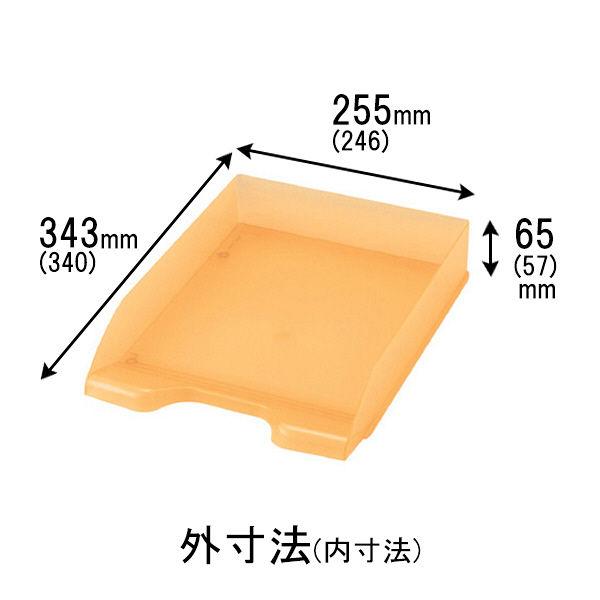 セキセイ デスクトレー A4タテ型 オレンジ SSS-1246-51 10個