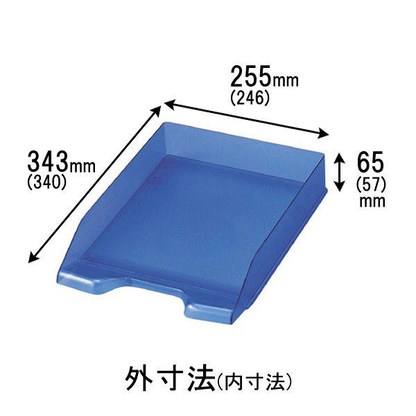セキセイ デスクトレー A4タテ型 ブルー SSS-1246-10 10個