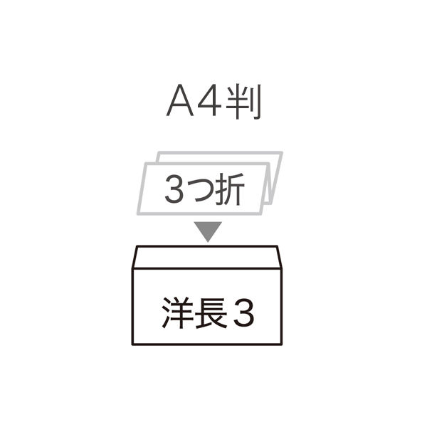ムトウユニパック ナチュラルカラー封筒 長3横型 ブルー テープ付 300枚(100枚×3袋)