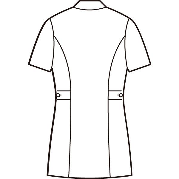AITOZ(アイトス) ナースジャケット(パイピング) 女性用 半袖 ピンク L 861338-060