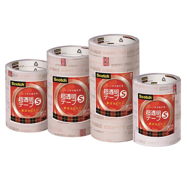 スリーエム スコッチ(R)超透明テープS工業用包装12mm幅 BK-12N 1セット(50巻)