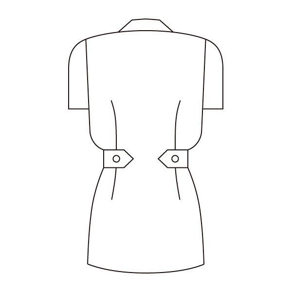 住商モンブラン レディスジャケット(ナースジャケット) 半袖 サックスブルー LL A73-1446