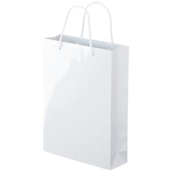 丸紐 手提げ紙袋 ホワイト M 30枚