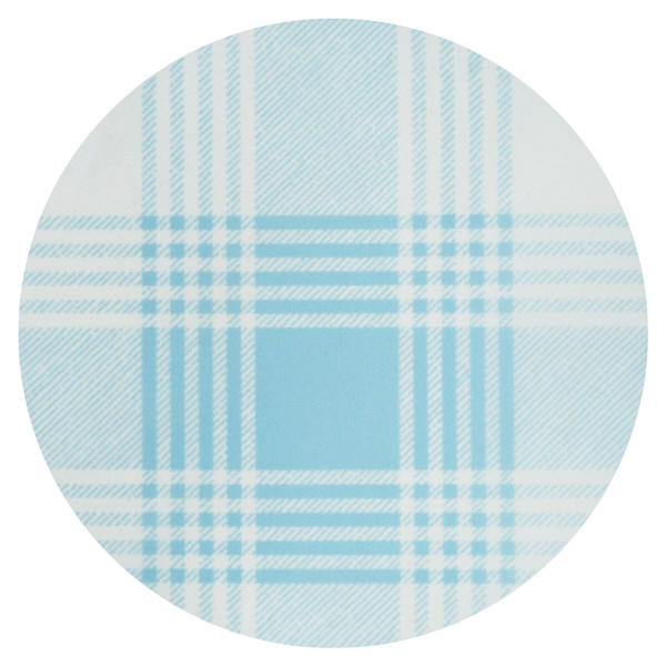リブドゥコーポレーション ヴェール 食事用エプロン チェック柄ブルー 1枚 92094
